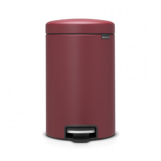 Brabantia Pedalspand NewIcon 12 ltr. Mineral Windsor Red