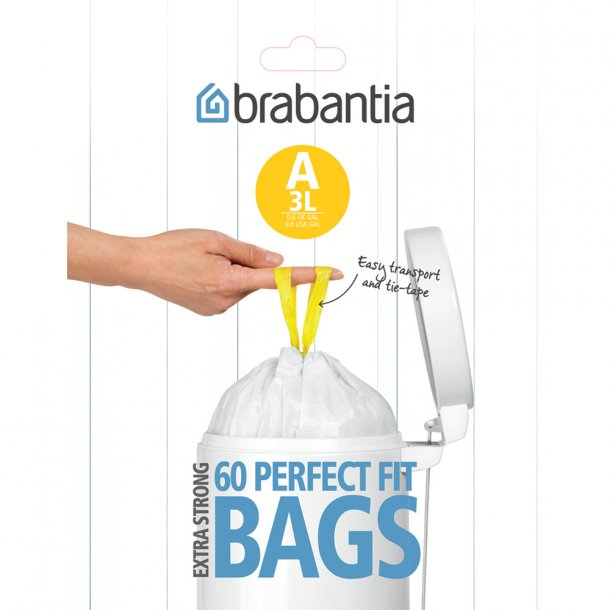 Brabantia Waste bag 3 liter dispenser 60 pcs White