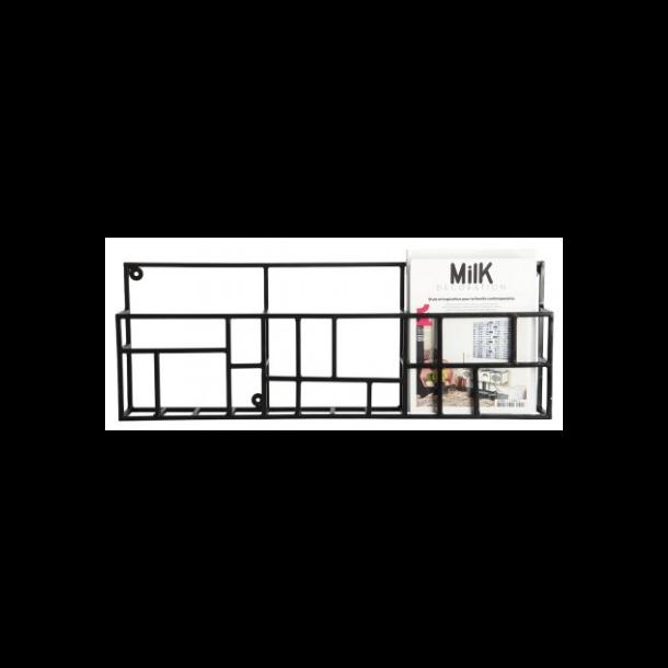 House Doctor Magasinholder, Rack, Sort, 70 x 5 Cm H.: 30 Cm