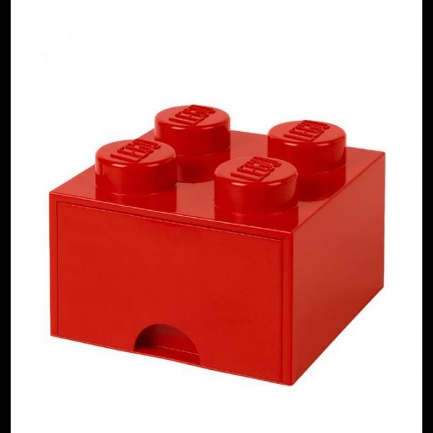 Lego låda förvaringslåda med 1 lådor 4 röd