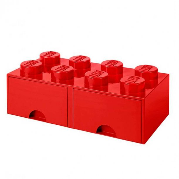 Lego Drawer Storage Box With 2 Drawer 8 Red