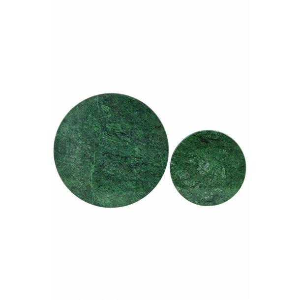House Doctor Bordskåner, Rd, Grøn marmor, Sæt af 2