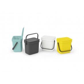 Brabantia Affaldsspand m/ Låg - Affaldssortering 3 Liter Uden Vægbeslag