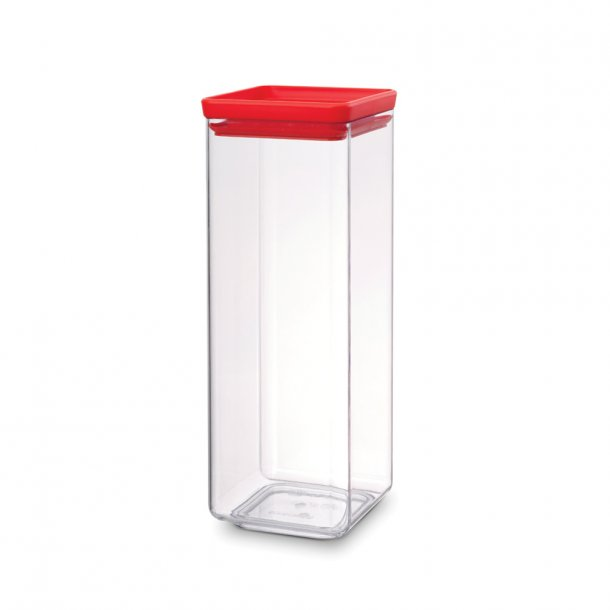 Brabantia Storage Box Square 2.5 Ltr. Tasty Colors Red