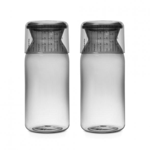 Brabantia Opbevaringsglas med målekop 1,3 liter Mørke Grå