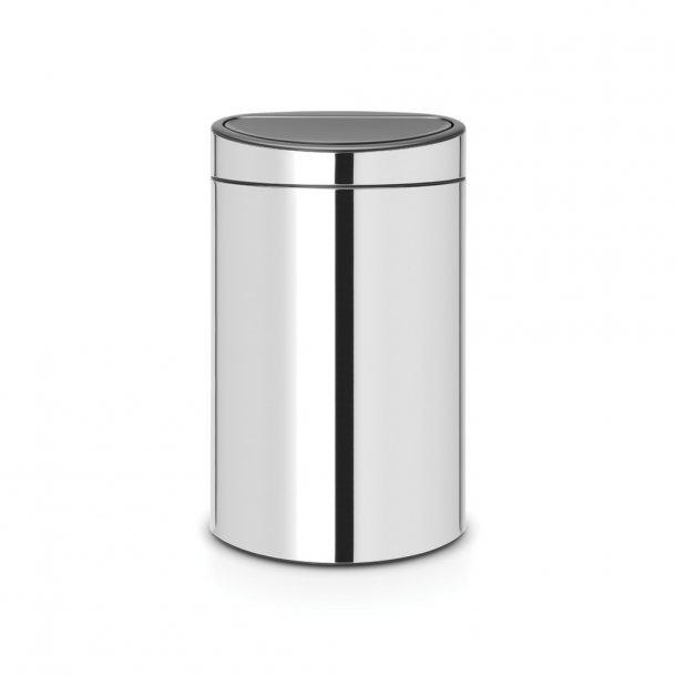 Brabantia Touch Bin 40 Liter Blank Stål