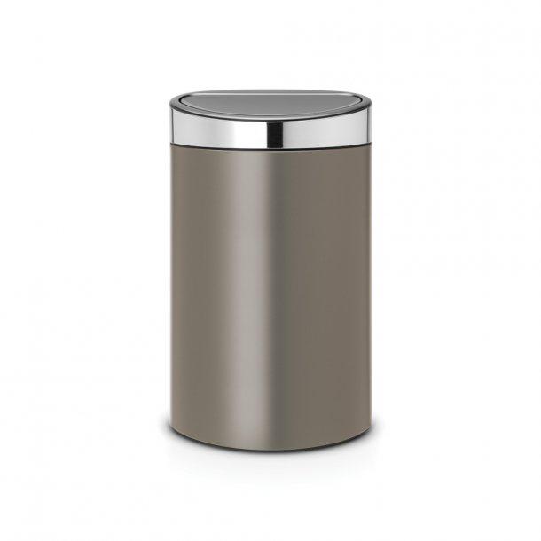 Brabantia Touch Bin 40 Liter Platinum - 114885