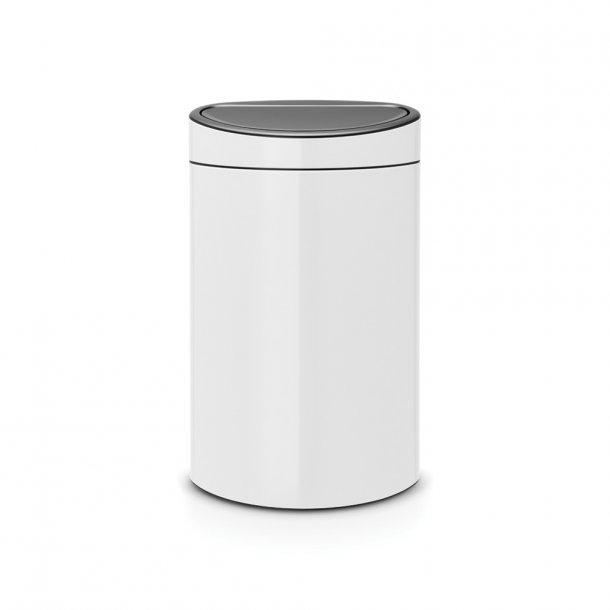 Brabantia Touch Bin 40 Liter Hvid