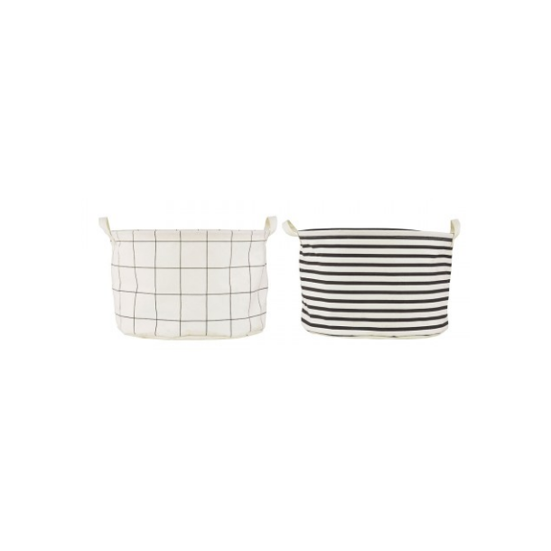 House Doctor Opbevaring, Squares / Stripes, Assorteret