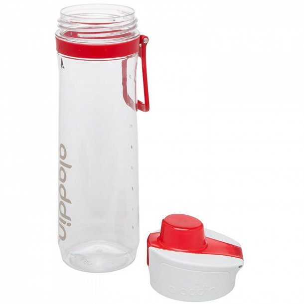 Aladdin Active Hydration Tracker flaske 0.8L, hvid/rød
