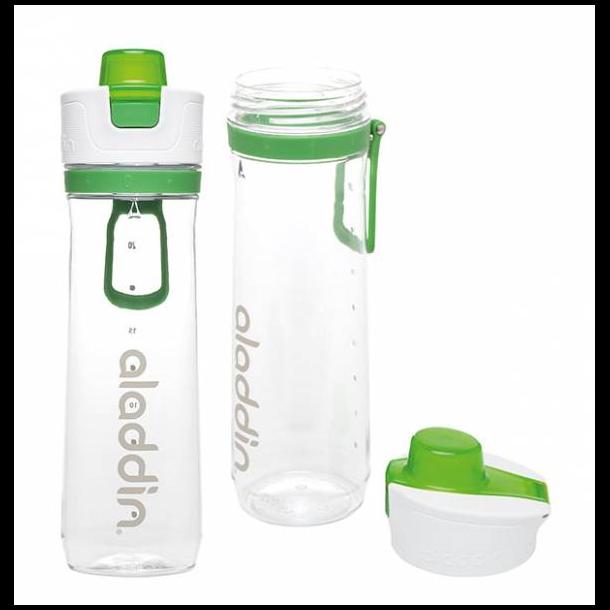 Aladdin Active Hydration Tracker flaske 0.8L, hvid/grøn