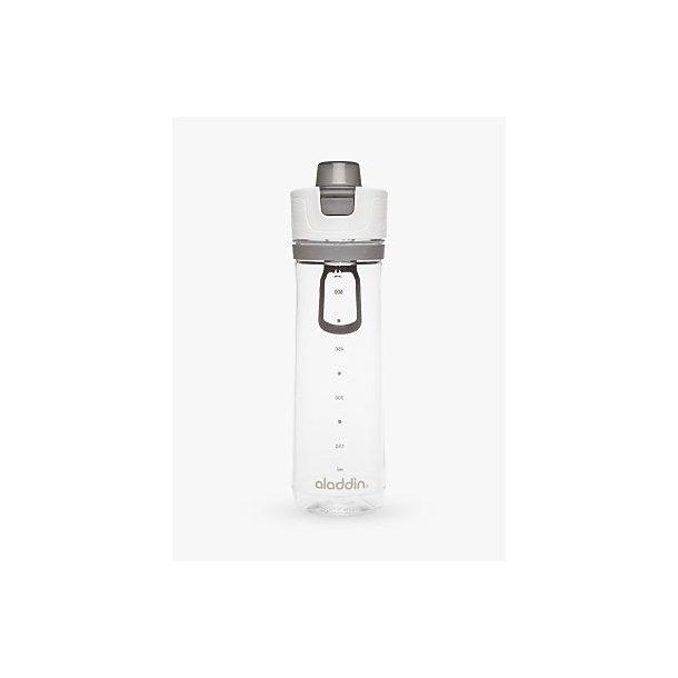 Aladdin Active Hydration Tracker flaske 0,8L, hvid/grå