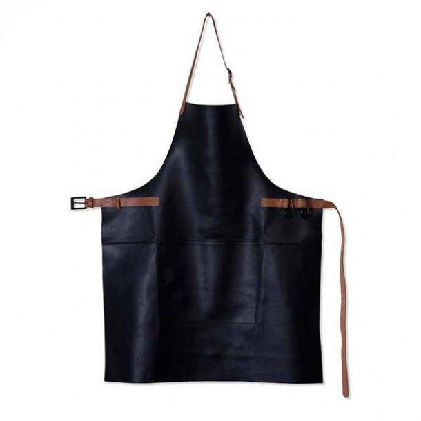 Dutchdeluxes BBQ Style Forklæde 100% Læder Sort