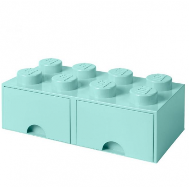 Lego Drawer Storage Box With 2 Drawer 8 Aqua Light Blue