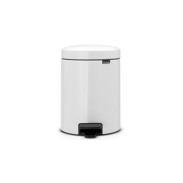 Brabantia newIcon Pedal Bin - Meltal Inner bucket, 5 Liter White