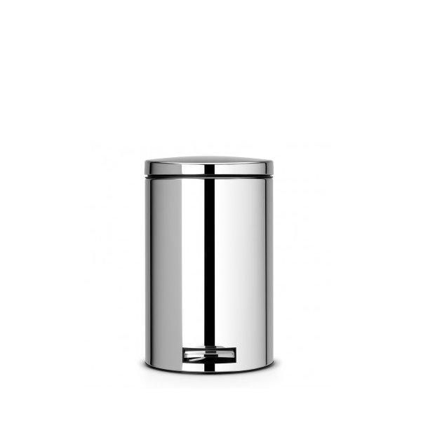 Brabantia Pedalspand Blank stål 12 Liter - 478123