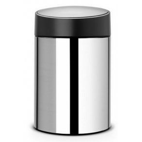 Brabantia Slide Affaldsspand 5 Liter - Blank Stål, Sort Låg - Vægmonteret