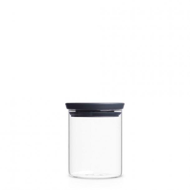Brabantia Storage Glass 0.6 Liter - Dark Grey