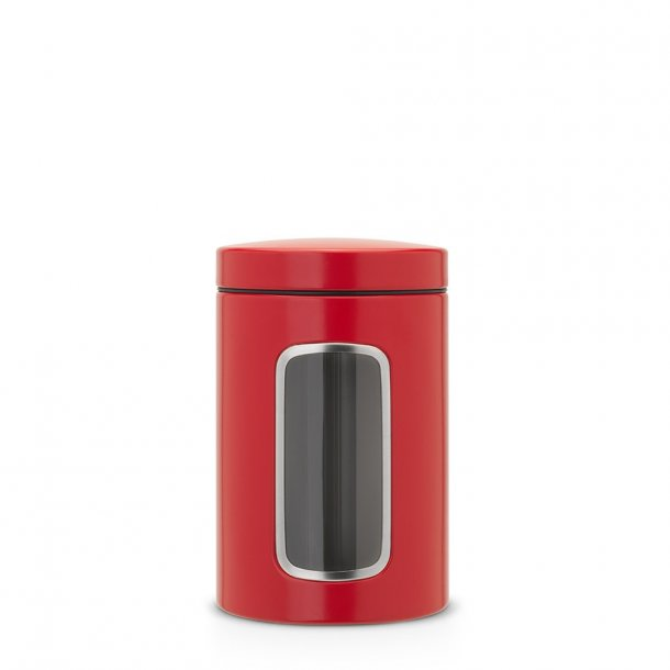 Brabantia 1.4 ltr. Storage box With Window - Passion Red