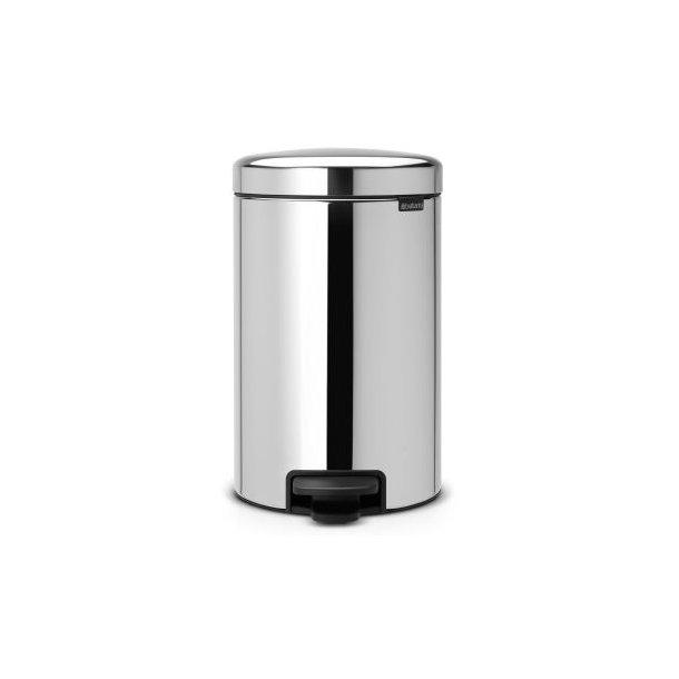 Brabantia Pedal bin newIcon 12 Liter Inner liner In Metal - Brilliant Steel