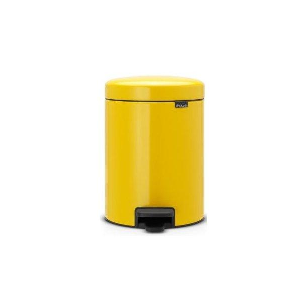 Brabantia Pedalspand newIcon 5 Liter Daisy Yellow / Gul