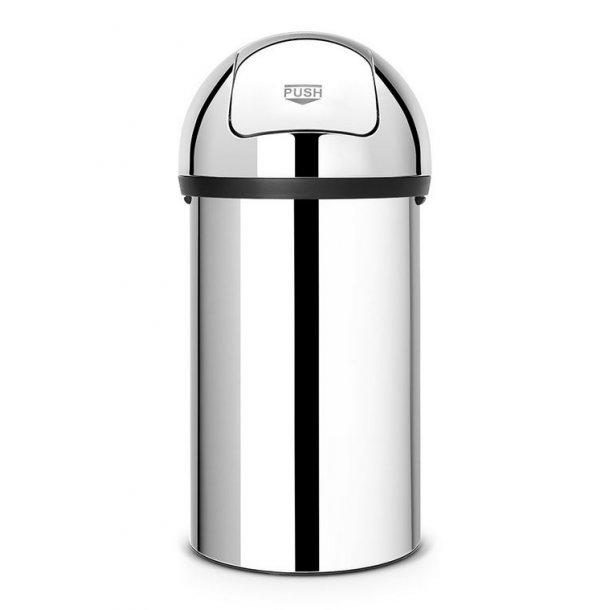 Brabantia Push Bin Affaldsspand 60 Liter, Blank Stål - 402623
