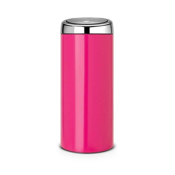 Brabantia Touch Bin 30 Liter Flat Top.Brabantia Touch Bin Bin 30 Liter Rosa