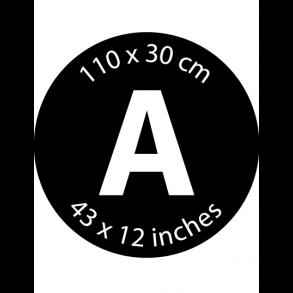 Mærke A - 110 x 30 cm