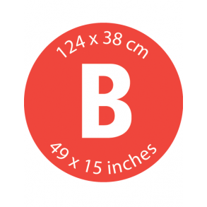 Mærke B - 124 x 38 cm