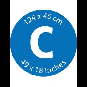 Mærke C - 124 x 45 cm