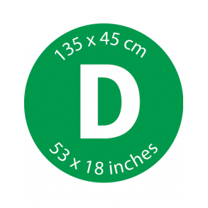 Mærke D - 135 x 45 cm