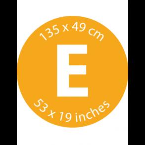 Mærke E - 135 x 49 cm