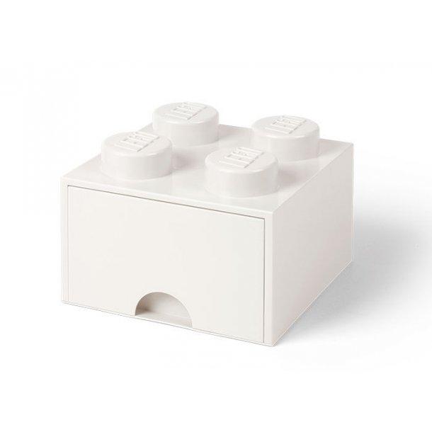 Lego Skuffe Opbevaringsklods Med 1 Skuffe 4 Hvid