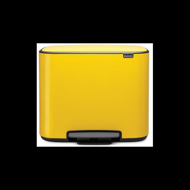 Brabantia Bo Pedalspand 11 + 23 Liter - Daisy Yellow / Gul