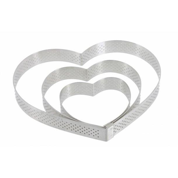 De Buyer Perforeret Hjerteform Ecole Valrhona - Rustfrit Stål