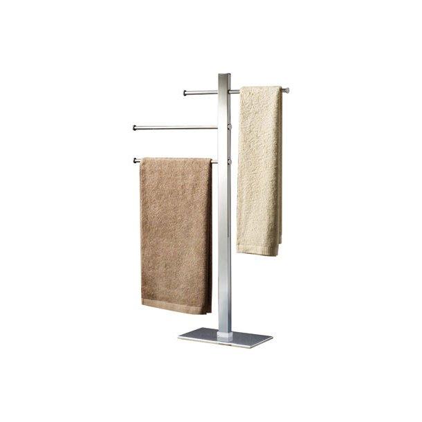 Gedy Håndklædeholder gulvmodel, med 3 justerbare stænger