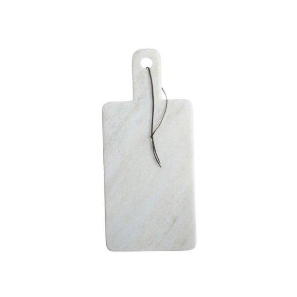 House Doctor Skærebræt, Cheese, Hvid marmor, 18 x 40 cm