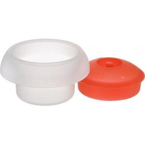 Lékué Ovo æggeform cylinderformet rød