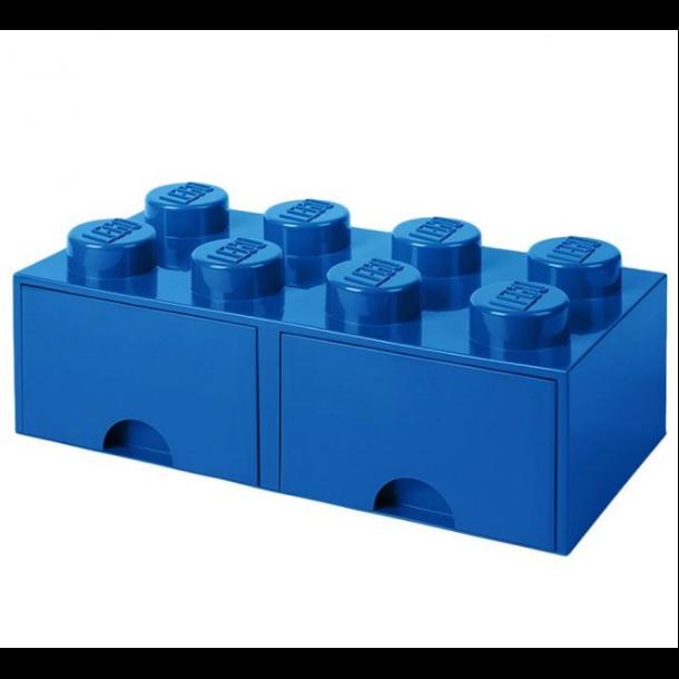 Lego Skuffe Opbevaringsklods Med 2 Skuffer 8 blå