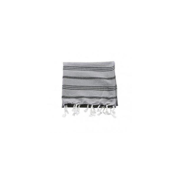 Meraki Hammam Towel Håndklæde 45 X 90 cm - Sort / Grå