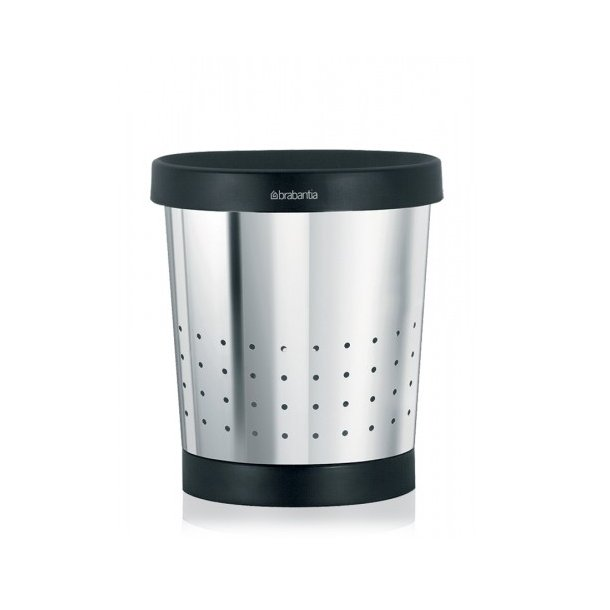 Brabantia Conical Papirkurv Kegleformet - Blank Stål 5 Liter - 364280