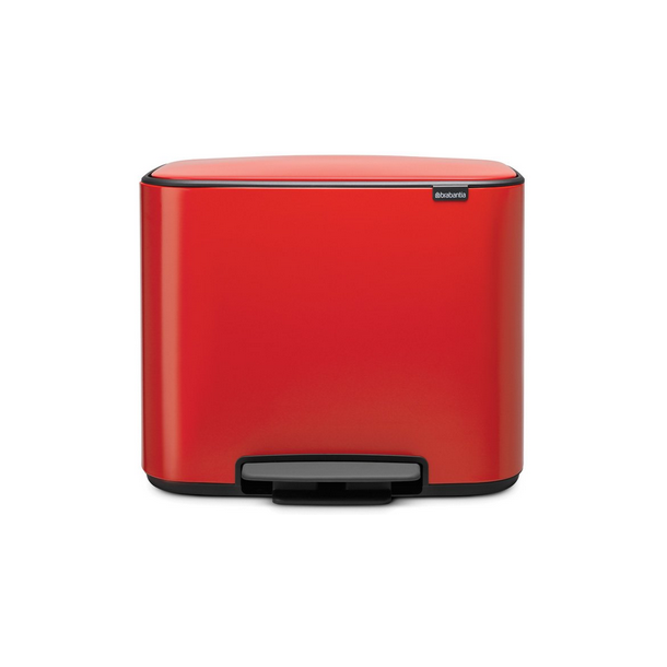 Brabantia Bo Pedalspand 3 x 11 ltr. - Passion Red