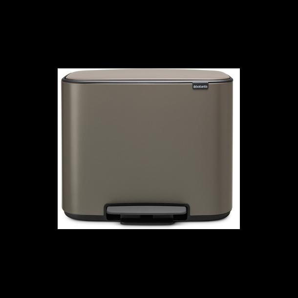 Brabantia Bo Pedalspand - Platinum - 36 ltr.