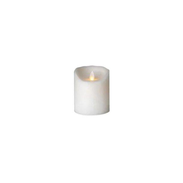 Sompex LED Stearinlys Bloklys - Frosted Hvid 10 cm