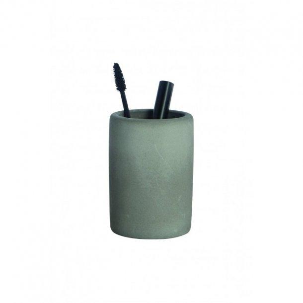 House Doctor Tandbørsteholder, Cement, h.: 11,3 cm